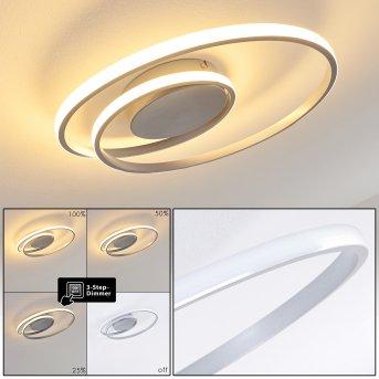 Leksund Plafoniera LED Argento, 1-Luce