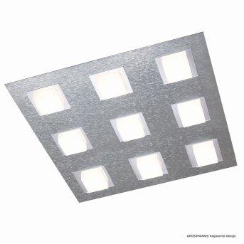 Grossmann BASIC Plafoniera LED Alluminio, 9-Luci