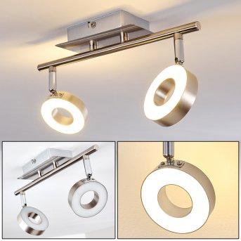 Russell Faretto da soffitto LED Nichel opaco, Cromo, 2-Luci