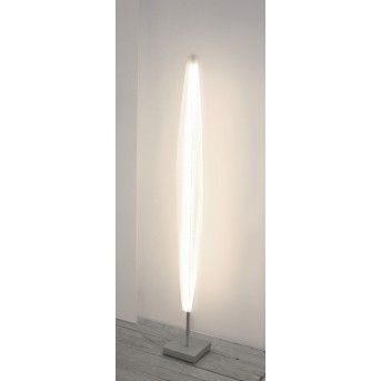 Escale Stratos Lampada da terra LED Nichel opaco, 1-Luce
