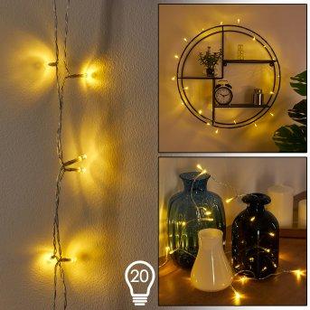 Sondrio Catenaria luminosa LED Bianco, 20-Luci