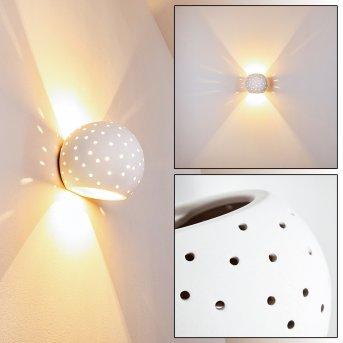 Herculano Applique Bianco, 1-Luce