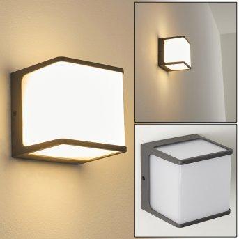 Buckau Applique da esterno LED Antracite, Bianco, 1-Luce