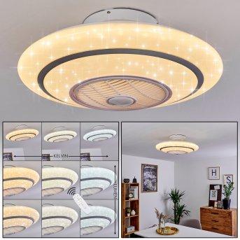 Sitges ventilatore da soffitto LED Bianco, 1-Luce, Telecomando