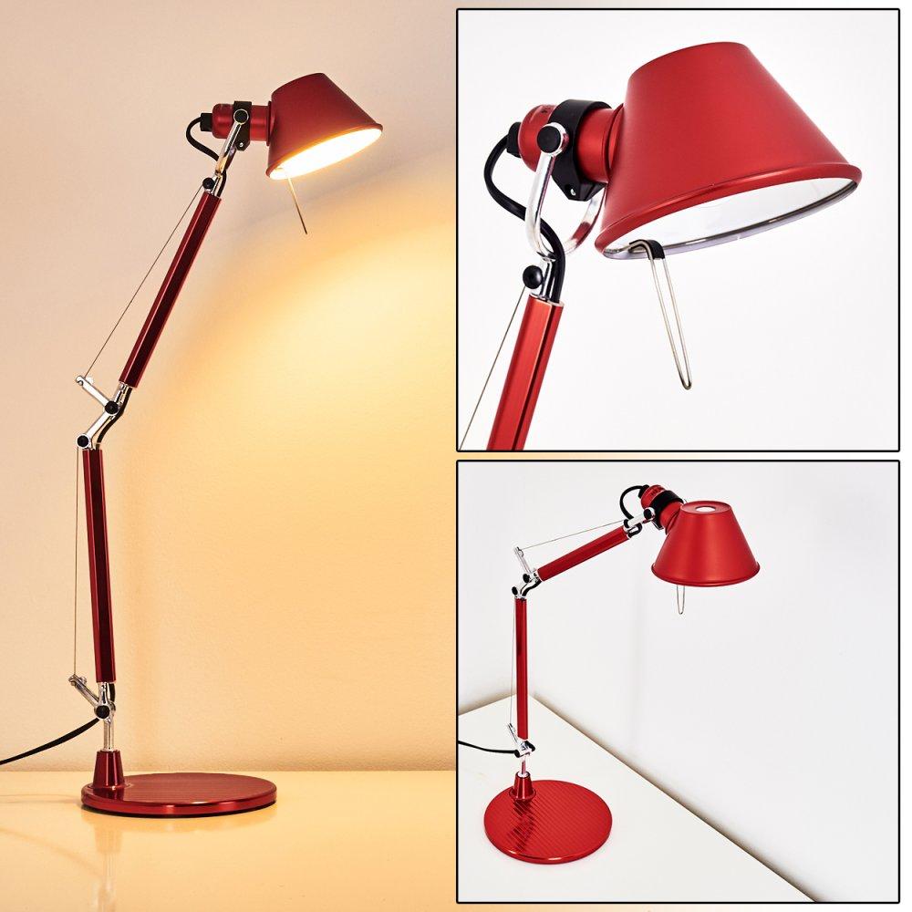 Artemide Tolomeo Micro Lampada Da Tavolo Rosso A011810 Lampada It