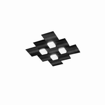 Grossmann CREO Plafoniera LED Nero, 4-Luci