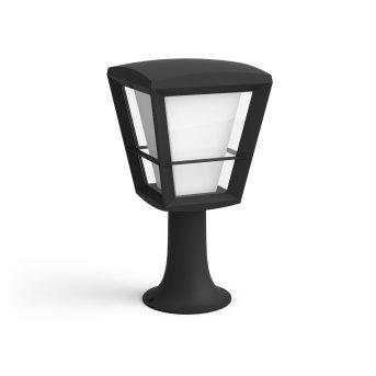 Philips Hue Ambiance White & Color Econic Lampada con piedistallo LED Nero, 1-Luce, Cambia colore