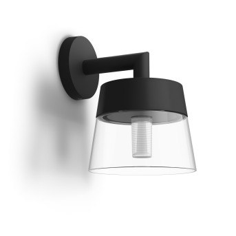Philips Hue White & Color Ambiance Attract Applique LED Nero, 1-Luce