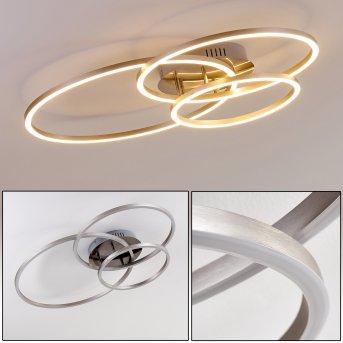 Chilkat Plafoniera LED Nichel opaco, 1-Luce