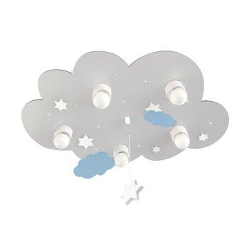 Waldi Cloudi Plafoniera Grigio, Bianco, 5-Luci