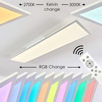 Antria Plafoniera LED Bianco, 1-Luce, Telecomando, Cambia colore