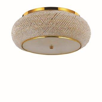 Ideal Lux PASHA Plafoniera Oro, Cristallo ottico, 10-Luci