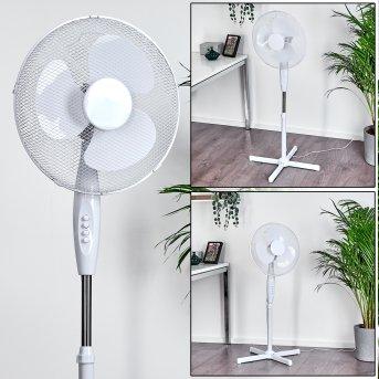 Niort Ventilatore da terra Cromo, Bianco