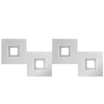 Grossmann KARREE Plafoniera LED Alluminio, Titanio, 4-Luci