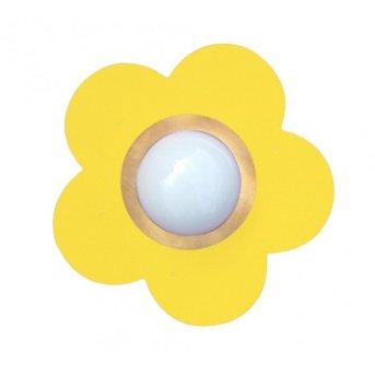 Waldi Fleur petit Plafoniera Giallo, 1-Luce
