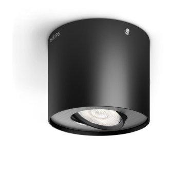 Philips Phase Plafoniera LED Nero, 1-Luce