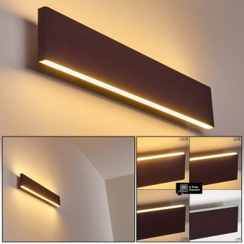 Obion Applique LED Ruggine, 2-Luci