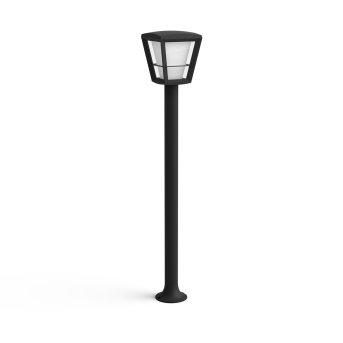 Philips Hue Ambiance White & Color Econic Lampioncino Segnapasso LED Nero, 1-Luce, Cambia colore