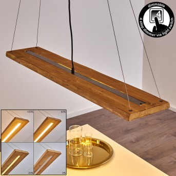Adak Lampada a Sospensione LED Grigio, 1-Luce