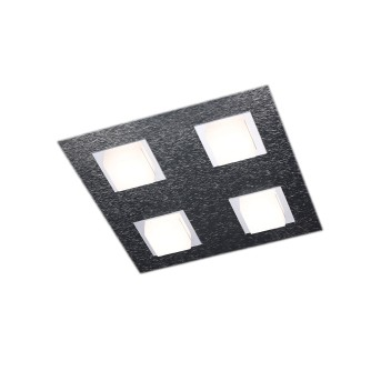 Grossmann BASIC Plafoniera LED Antracite, 4-Luci