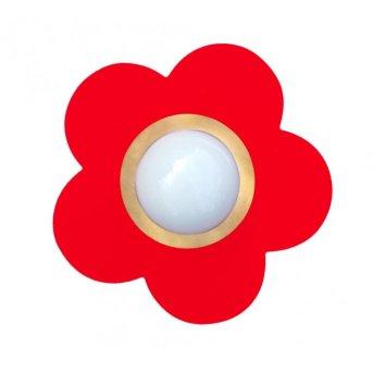 Waldi Fleur petit Plafoniera Rosso, 1-Luce