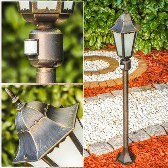 Hongkong Frost Lampada da terra da esterno Marrone, Oro, 1-Luce, Sensori di movimento