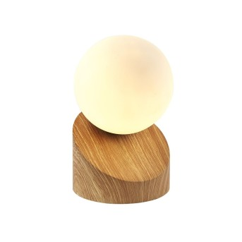Nino Leuchten ALISA Lampada da Tavolo LED Legno chiaro, 1-Luce