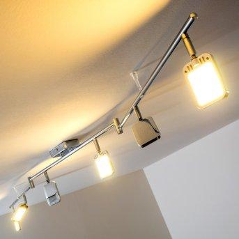 Moosonee Plafoniera LED Cromo, 6-Luci