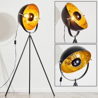 Saturn Lampada da terra Nero, 1-Luce