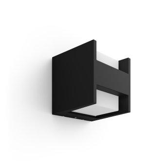 Philips Hue White Fuzo Applique LED Nero, 1-Luce