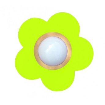 Waldi Fleur petit Plafoniera Verde, 1-Luce